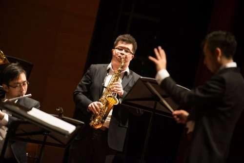 PHOTO: Goh Wee Juay on Alto Saxophone / credit: Looi Zhen Feng